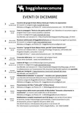 scarica il calendario delle iniziative a Baggio
