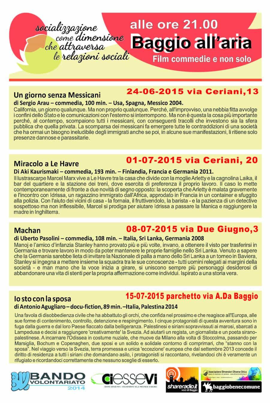 Baggio all'aria - 2015